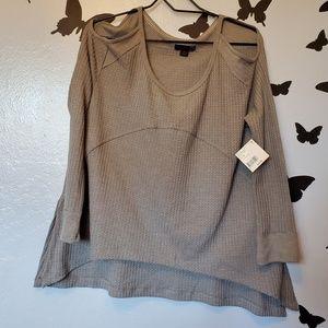 JW Style cold shoulder blouse